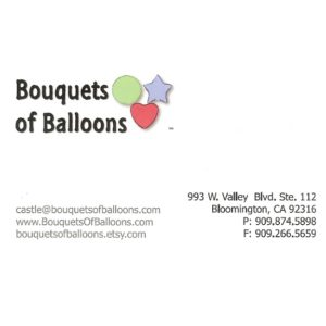 Bouquets of Balloons