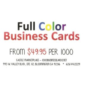 Business Cards by Castle Marketplace