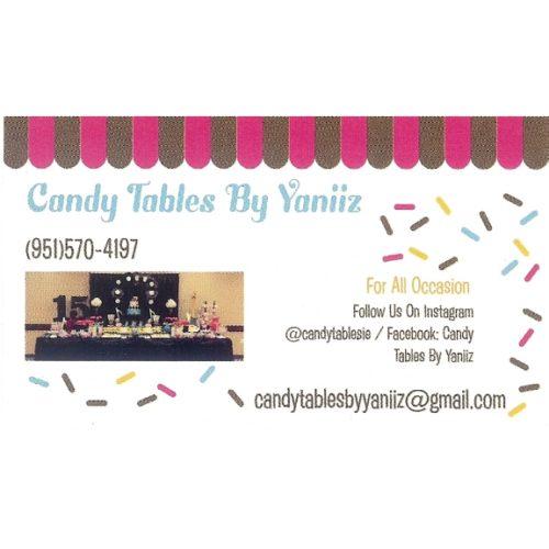 Candy Tables By Yaniiz