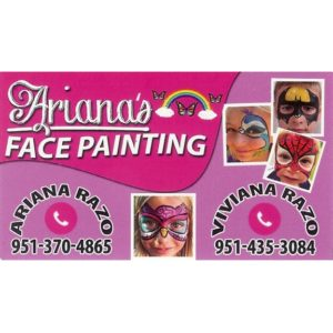 Ariana's Face Painting