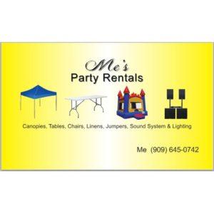 Me's Party Rentals