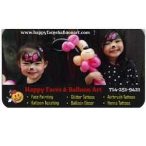 Happy Faces & Balloon Art
