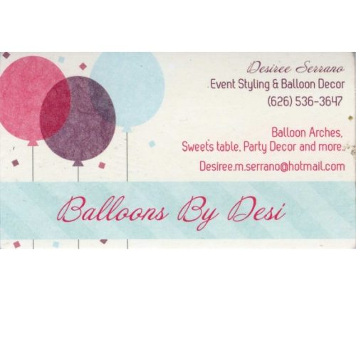 Balloons By Desi